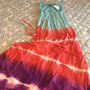 Gorgeous Tie Die Maxi Dress. NWT